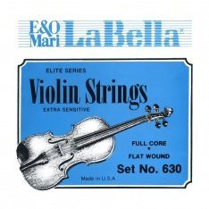 Струни для скрипки La Bella 630 Violin String Set, Chrome Steel Flat Wound