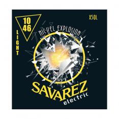 Струни для електрогітари Savarez X50L Nickel Explosion Light Tension