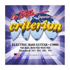 Струни для бас-гітари La Bella C900S Criterion Electric Bass, Nickel-Plated Round Wound – Standard