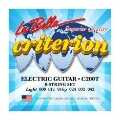 Струни для електрогітари La Bella C200T Criterion Electric Guitar, Nickel-Plated Round Wound – Light
