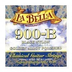 Струни для класичної гітари La Bella 900-B Elite – Black Nylon, Polished Golden Alloy