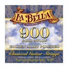 Струни для класичної гітари La Bella 900 Elite – Gold Nylon, Polished Golden Alloy