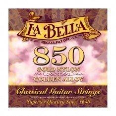 Струни для класичної гітари La Bella 850 Elite – Gold Nylon, Golden Alloy