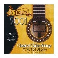 Струни для класичної гітари La Bella 2001 Classical – Medium Tension