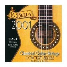 Струни для класичної гітари La Bella 2001 Classical – Light Tension