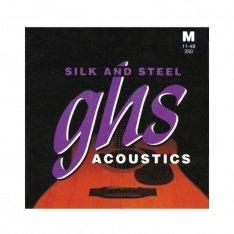 Струни для акустичної гітари GHS 350 Silk and Steel 0.11-0.48