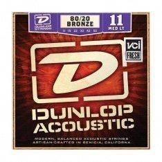 Струни для акустичної гітари Dunlop DAB1152 80/20 Bronze Medium Light