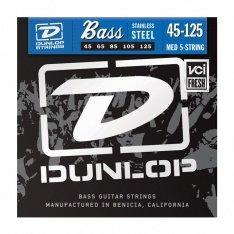 Струни для бас-гітари Dunlop DBS45125 Stainless Steel Medium 5-125