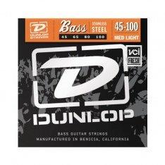 Струни для бас-гітари Dunlop DBS45100 Stainless Steel Med Light