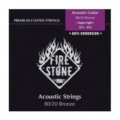 Струни для акустичної гітари Fire&Stone Set 80/20 Bronze Super Light