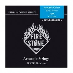 Струни для акустичної гітари Fire&Stone Set 80/20 Bronze Light