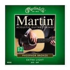 Струни для акустичної гітари Martin Phosphor Bronze M500