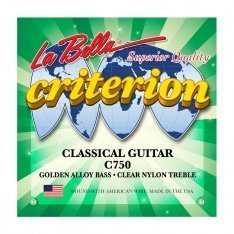 Струни для класичної гітари La Bella C750 Criterion Classical Guitar, Clear Nylon, Golden Alloy