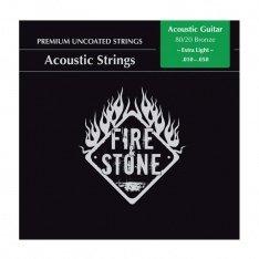 Струни для акустичної гітари Fire&Stone 80/20 Bronze Super light
