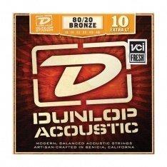 Струни для акустичної гітари Dunlop DAB1048 80/20 Bronze Extra Light