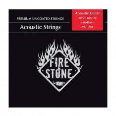 Струни для акустичної гітари Fire&Stone 80/20 Bronze Medium