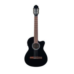 Класична гітара з звукознімачем VGS E-Classic Student Preamp & Cutaway (Black)