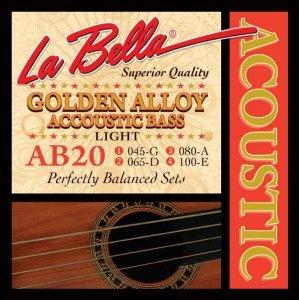 Струни для акустичної бас-гітари La Bella AB20 45-100
