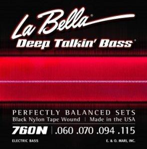 Струни для бас гітари La Bella 760N 60-115 (B.Nylon W)