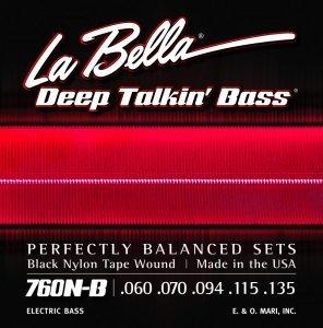 Струни для бас-гітари La Bella 760N-B 60-135 (B.Nylon W)