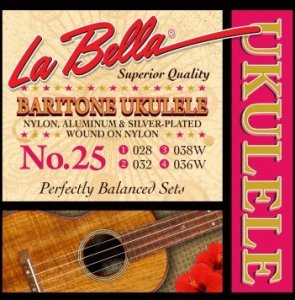 Струни La Bella 25 для баритон укулеле