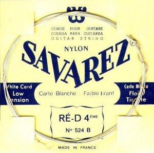 Струни для класичної гітари SAVAREZ 520 B White Card