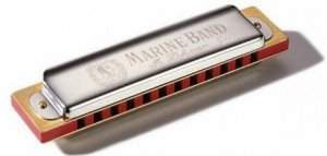 Губна гармошка Hohner M1896506X A Natural Minor Marine Band Box