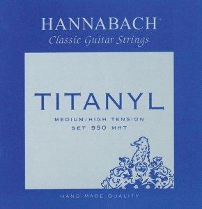 Струни для класичної гітари Hannabach 950 (medium / high) Titanyl