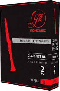Тростина для кларнету Gonzalez Bb Clarinet Classic x 10 2 1/2