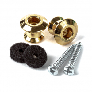 Набір тримачів для ременю Dunlop STRAPLOK® DUAL DESIGN STRAP BUTTON SET - GOLD 2psls034g
