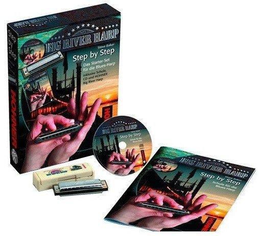 Губна гармошка Hohner M91401 Step by Step Blues Harmonica Starter Pack (Big River Harp C-maj)