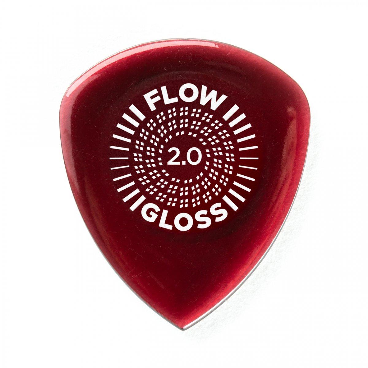 Медіатори DUNLOP FLOW GLOSS PICK 2.0MM (3шт.)